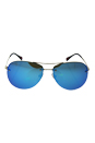 Prada SPS 50R - ZVN-5M2 - Pale Gold/Light Green Blue by Prada for Unisex - 59-14-135 mm Sunglasses