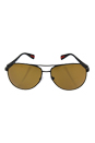 Prada SPS 51O DG0-5Y1 - Black Rubber/Brown Polarized by Prada for Unisex - 62-14-135 mm Sunglasses