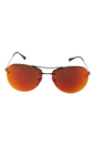 Prada SPS 50R 5AV-5M0 - Gunmetal/Brown Orange by Prada for Unisex - 59-14-135 mm Sunglasses