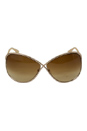 Tom Ford TF130 Miranda 28F Gold by Tom Ford for Women - 68-10-115 mm Sunglasses