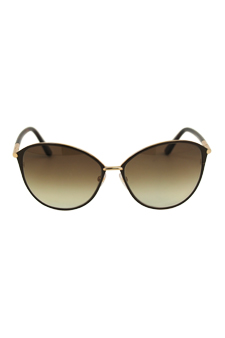Tom Ford FT0320 Penelope 28F - Shiny Rose Gold/Gradient Brown by Tom Ford for Women - 59-15-131 mm Sunglasses