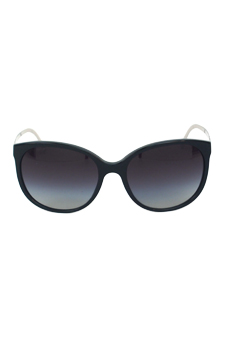 Burberry BE 4146 3406/8G - Black Light Beige Fantasy/Grey Shaded by Burberry for Women - 55-17-135 mm Sunglasses