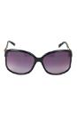 Gucci GG 3671/S 6UBEU - Shiny Black Gold by Gucci for Women - 61-16-125 mm Sunglasses