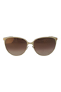 Jimmy Choo Posie/S F81QH - Ivory Gold Glitter by Jimmy Choo for Women - 60-16-135 mm Sunglasses