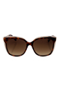 Jimmy Choo Octavia/S 19WJD - Havana Nude by Jimmy Choo for Women - 55-16-140 mm Sunglasses