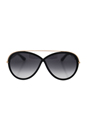 Tom Ford FT0454 Tamara 01B - Shiny Black by Tom Ford for Women - 64-05-130 mm Sunglasses