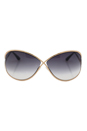 Tom Ford FT0130 Miranda 28B - Rose Gold/Black by Tom Ford for Women - 68-10-115 mm Sunglasses