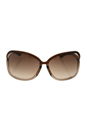 Tom Ford FT0076 Raquel 38F - Dark Brown by Tom Ford for Women - 63-14-120 mm Sunglasses