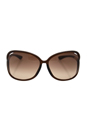 Tom Ford FT0076 Raquel 692 - Dark Brown by Tom Ford for Women - 63-14-120 mm Sunglasses