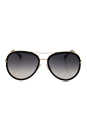 Jimmy Choo Tora/S QBE9C - Black Grey by Jimmy Choo for Women - 57-18-140 mm Sunglasses