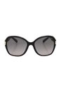 Jimmy Choo Alana/S D28 EU - Shiny Black by Jimmy Choo for Women - 57-17-135 mm Sunglasses