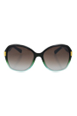 Jimmy Choo Alana/S EYX IF - Petroleum by Jimmy Choo for Women - 57-17-135 mm Sunglasses
