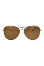 Michael Kors MK 1012 11122T - Vivianna I - Gold/White Polarized by Michael Kors for Women - 58-15-135 mm Sunglasses