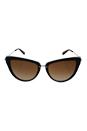 Michael Kors MK 6039 314513 Abela II - Dark Tortoise/Brown by Michael Kors for Women - 56-17-140 mm Sunglasses