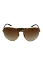 Michael Kors MK 1006 105713 Sadie II - Black Gold/Brown by Michael Kors for Women - 62-14-125 mm Sunglasses