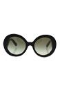 Prada SPR 27N ROK-4M1 - Black Havana/Green by Prada for Women - 55-22-135 mm Sunglasses