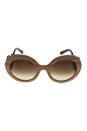 Prada SPR 27R IAM-6S1 - Nut Canaletto/Brown Shaded by Prada for Women - 55-22-135 mm Sunglasses