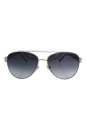 Burberry BE 3084 1166/T3 - Brushed Silver/Grey Polarized by Burberry for Women - 57-14-140 mm Sunglasses