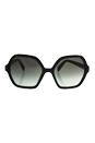 Prada SPR 06S 1AB-0A7 - Black/Grey Gradient by Prada for Women - 56-18-135 mm Sunglasses