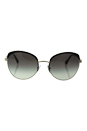 Prada SPR 54S QE3-0A7 - Black/Pale Gold/Grey Gradient by Prada for Women - 59-20-140 mm Sunglasses