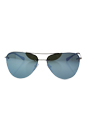 Prada SPS 53R 1BC-5K2 - Silver/Green Silver by Prada for Women - 57-14-135 mm Sunglasses