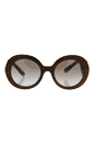 Prada SPR 27R IAM-4O0 - Nut Canaletto/Brown by Prada for Women - 52-22-135 mm Sunglasses