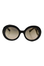 Prada SPR 27R UBT-4O2 - Ebony Malabar/Brown by Prada for Women - 55-22-135 mm Sunglasses