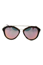 Prada SPR 12Q USG-5L2 - Striped Brown/Grey Yellow Rose by Prada for Women - 54-18-135 mm Sunglasses