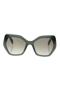 Prada SPR 16R UEI-4P2 - Opal Dark Green/Grey Gradient by Prada for Women - 56-19-135 mm Sunglasses