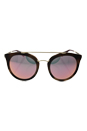 Prada SPR 23S USG-5L2 - Striped Dark Brown/Grey Yellow Rose by Prada for Women - 52-22-140 mm Sunglasses