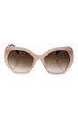 Prada SPR 16R UEW-0A6 - Opal Pink/Brown Gradient by Prada for Women - 56-19-135 mm Sunglasses