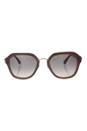 Prada SPR 25R UEC-4K0 - Opal Powder/Pink/Opal Powder/Pink Gradient Grey by Prada for Women - 55-21-140 mm Sunglasses