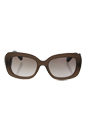 Prada SPR 27O UBU-4O0 - Dark Brown Matte Trasparent/Gradient Brown Silver by Prada for Women - 54-19-135 mm Sunglasses
