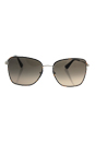 Prada SPR 52S 2AU-3D0 - Dark Havana Silver/Light Brown Grey by Prada for Women - 58-19-140 mm Sunglasses