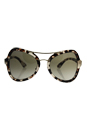 Prada SPR 18S UAO-4K1 - Spotted Opal Brown/Green Gradient by Prada for Women - 55-20-135 mm Sunglasses