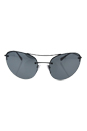 Prada SPS 51R 7AX-5L0 - Black/Light Grey Black by Prada for Women - 59-18-135 mm Sunglasses