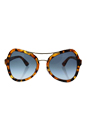 Prada SPR 18S UF3-4R2 - Spotted Havana/Blue Gradient by Prada for Women - 55-20-135 mm Sunglasses