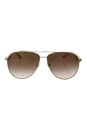 Prada SPR 53Q ZVN-0A6 - Pale Gold/Brown Gradient by Prada for Women - 60-13-140 mm Sunglasses