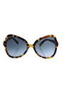 Prada SPR 05S 7S0-4R2 - Medium Havana/Blue Gradient by Prada for Women - 56-19-135 mm Sunglasses