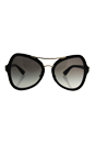 Prada SPR 18S 1AB-0A7 - Black/Grey Gradient by Prada for Women - 55-20-135 mm Sunglasses