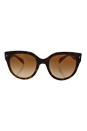 Prada SPR 17O FAL-1Z1 - Top Light Havana Opal Yellow/Brown Gradient by Prada for Women - 54-22-140 mm Sunglasses
