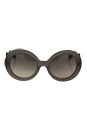 Prada SPR 27N UBV-4P0 - Dark Grey Matte Transparent/Light Brown Grey Silver by Prada for Women - 55-22-135 mm Sunglasses