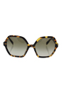 Prada SPR 06S 7S0-4K1 - Medium Havana/Green Gradient Grey by Prada for Women - 56-18-135 mm Sunglasses