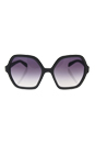 Prada SPR 06S UFG-4W1 - Matte Alluminium Grey/Violet Gradient by Prada for Women - 56-18-135 mm Sunglasses