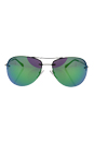Prada SPS 50R 1BC-1M0 - Silver/Light Green by Prada for Women - 59-14-135 mm Sunglasses