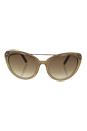 Tom Ford FT0384 34F Edita - Shiny Light Bronze/Brown Gradient by Tom Ford for Women - 58-18-140 mm Sunglasses