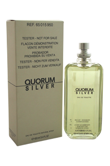 Quorum Silver by Antonio Puig for Men - 3.4 oz EDT Spray (Tester)