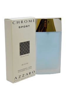 Loris Azzaro Chrome Sport  men 3.4oz EDT Spray (Tester)