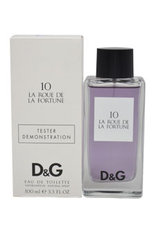 D&G La Roue De La Fortune 10 by Dolce & Gabbana for Unisex - 3.3 oz EDT Spray (Tester)