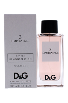 D&G L'Imperatrice 3 by Dolce & Gabbana for Unisex - 3.3 oz EDT Spray (Tester)